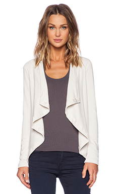 Heather Open Front Cardi in Stone