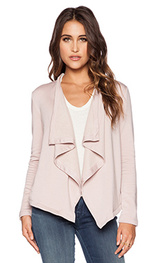 Heather Cross Back Fleece Cardigan in Blossom