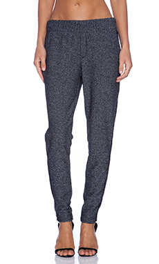 Heather Slim Pant in Charcoal