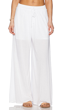Heather Pleated Palazzo Pant in White