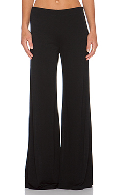 Heather High Waist Zip Pant in Black