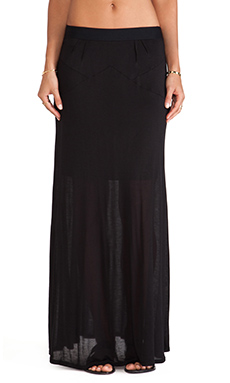 Heather Dart Maxi Skirt in Black