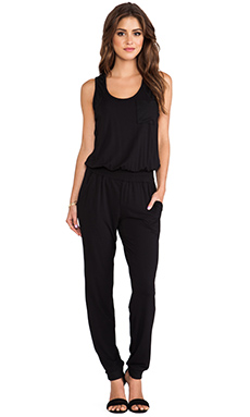 Heather Scoopneck Jumpsuit in Black