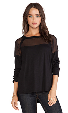 Heather Raglan Top in Black
