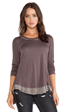 Heather Flounce Back Top in Cacao