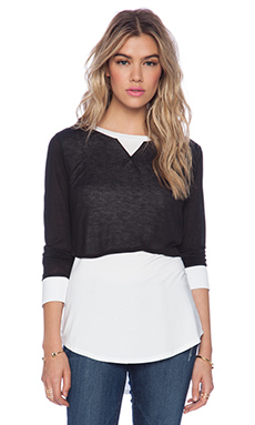 Heather Long Sleeve Tunic in Black & White