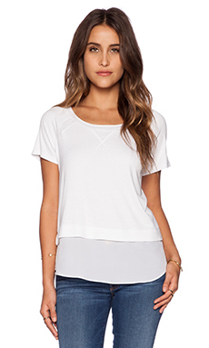 Heather Short Sleeve Top in White