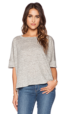 Heather Linen Box Top in Heather Grey