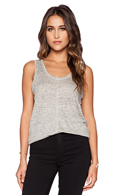 Heather Scoop Neck Tank in Heather Grey