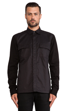 Hudson Jeans The Military Shirt Jacket in Raw Black