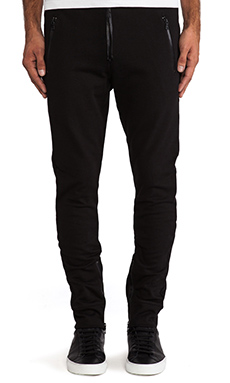 Hudson Jeans Blackout Pant in Raw Black