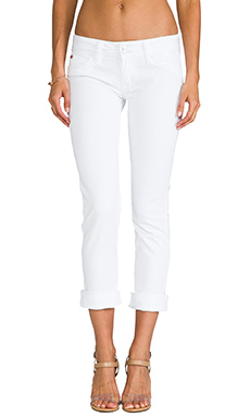 Hudson Jeans Ginny Cropped Denim in White