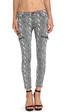 Hudson Jeans Mystic Skinny Crop in Sepia Serpent