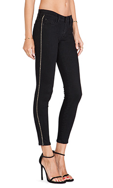 Hudson Jeans Luna Super Skinny Crop in Black