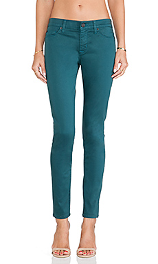 Hudson Jeans Nico Midrise Super Skinny in Graphite Teal