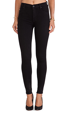 Hudson Jeans Barbara High Waisted Skinny in Black