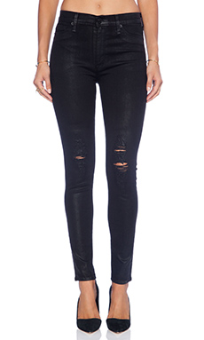 Hudson Jeans Barbara High Waist Super Skinny in Waxed Skylark
