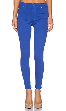 Hudson Jeans Barbara High Waisted Super Skinny in Pacific Blue Ocean