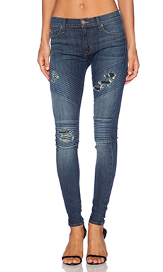 Hudson Jeans Brooklyn Moto Super Skinny in Walk of Fame