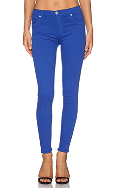 Hudson Jeans Barbara High Waist Super Skinny Ankle in Pacific Ocean