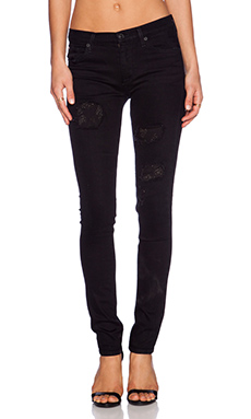 Hudson Jeans Custom Shine Midrise Skinny in Downtown