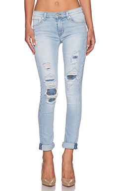 Hudson Jeans Custom Shine Midrise Skinny in Alley cat