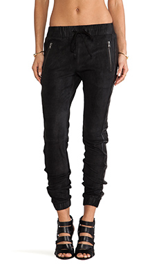 Hudson Jeans Katie Crop Sweatpant in Black