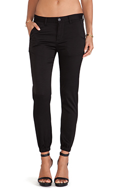 Hudson Jeans Vanish Cuff Chino in Black