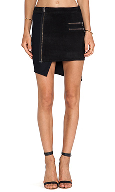 Hudson Jeans Kink Suede Panel Skirt in Compilation