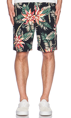 Huf Vintage Tropicana Easy Short in Black