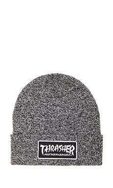 Huf x Thrasher Mixed Yarn Beanie in Black & White