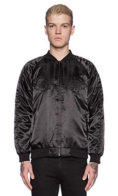 Huf x Thrasher Satin Souvenir Jacket in Black
