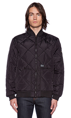 Huf Baron Quilted Flight Jacket in Black