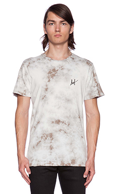 Huf Crystal Wash Script Tee in Light Grey