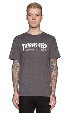 Huf x Thrasher Asia Tour Tee in Charcoal Heather