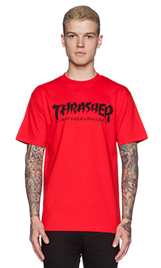 Huf x Thrasher Asia Tour Tee in Red