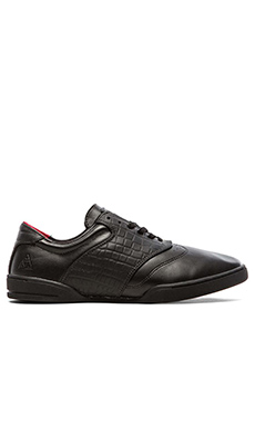 Huf Dylan Sneaker in Black Leather/Croc