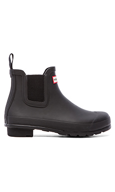 Hunter Original Chelsea Rain Boot in Black