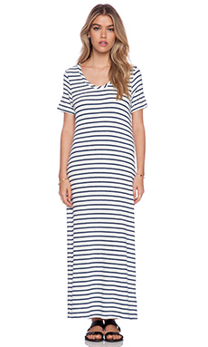 Hye Park and Lune Capella Stripe Dress in Navy