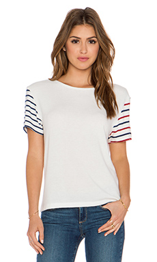 Hye Park and Lune Nicole Short Sleeve Tee in Multi Stripe