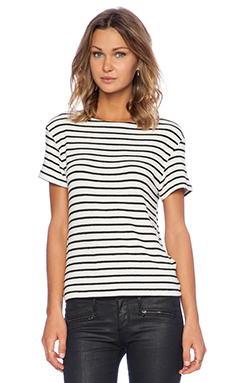 Hye Park and Lune Mars Short Sleeve Top in Black Stripe