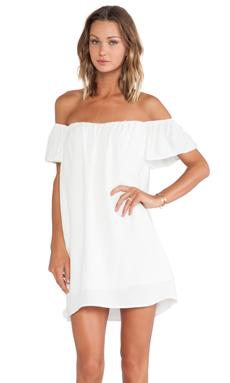 ISLA & LULU Cool Kicks Dress in White