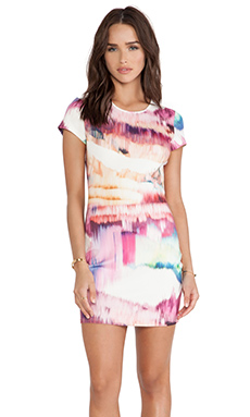 ISLA & LULU Next in Line Dress in Colour Run Print