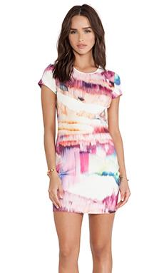 ISLA & LULU Next in Line Dress in Colour Run Print