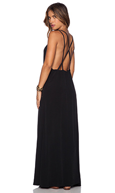 ISLA & LULU Barefoot Maxi Dress in Black