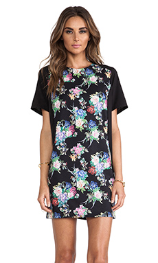 ISLA & LULU Ever True T-Shirt Dress in Rosa Print
