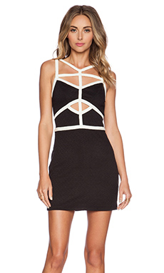 ISLA & LULU After Hours Mini Dress in Black & White