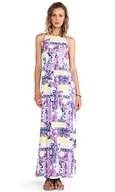 ISLA & LULU Love Soaked Maxi Dress in Geo Pansy Print