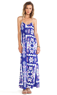 ISLA & LULU Bright Dew Maxi Dress in Floral Glass Print