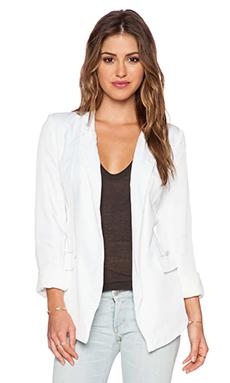 ISLA & LULU Flipside Blazer in White
